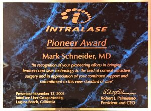 IntraLase® Pioneer Award of 2003